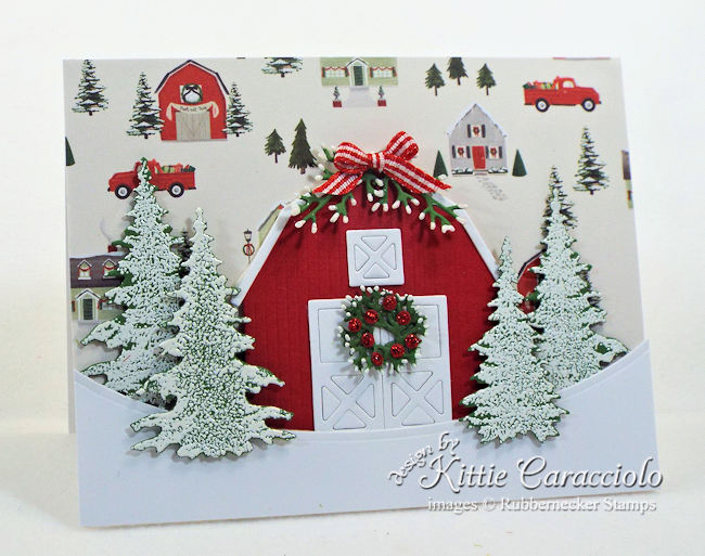 Come see how I made this Christmas barn scene.