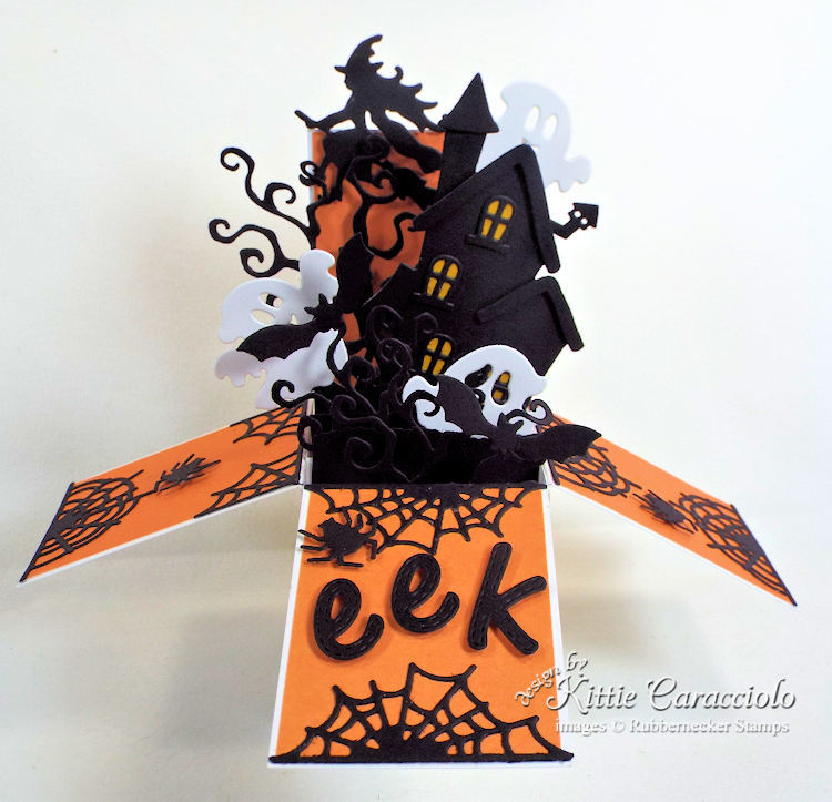 Come see how I made this Halloween pop up box card.