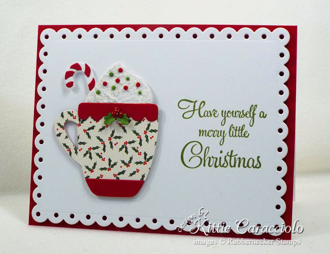 Come see how I made this clean and simple Christmas card.