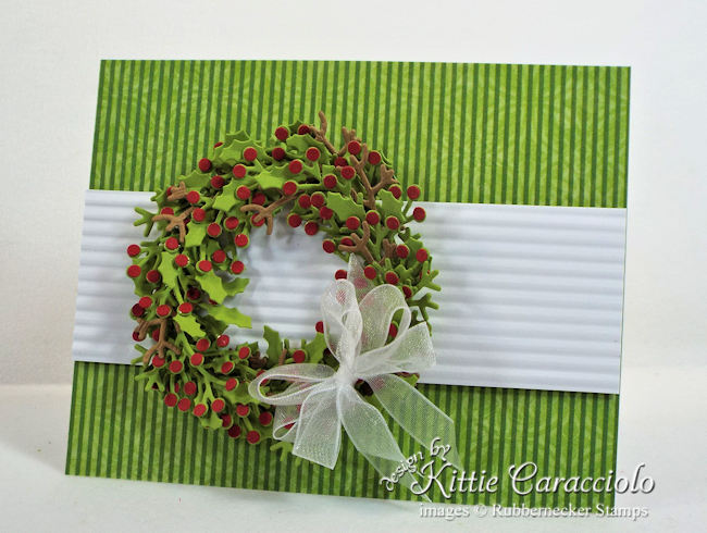 Come see how I made this clean and simple Christmas wreath card.