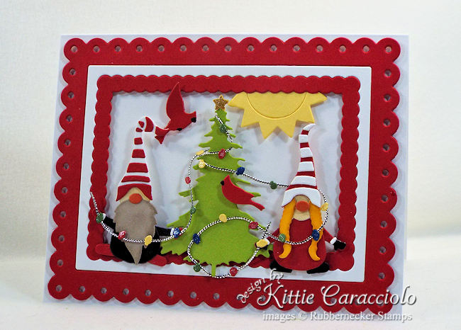 Come see how I made this colorful gnome christmas card.