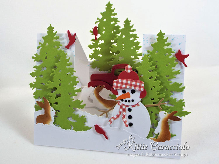Come see how I made this cute snowman stair step card.