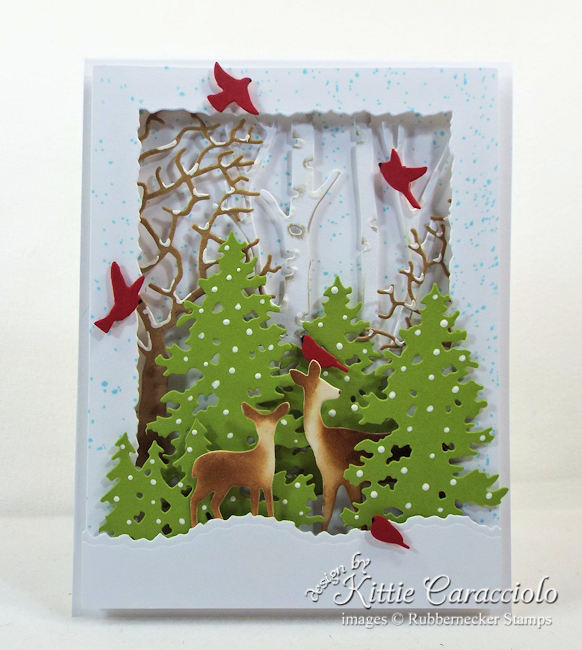 Come see how I made this deer die cut winter scene.
