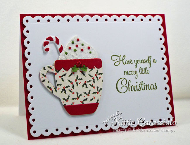 Come see how I made this fun clean and simple Christmas card.
