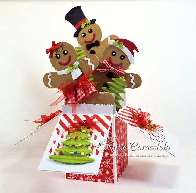 Come see how I made this gingerbread boy and girl Christmas pop up box card.
