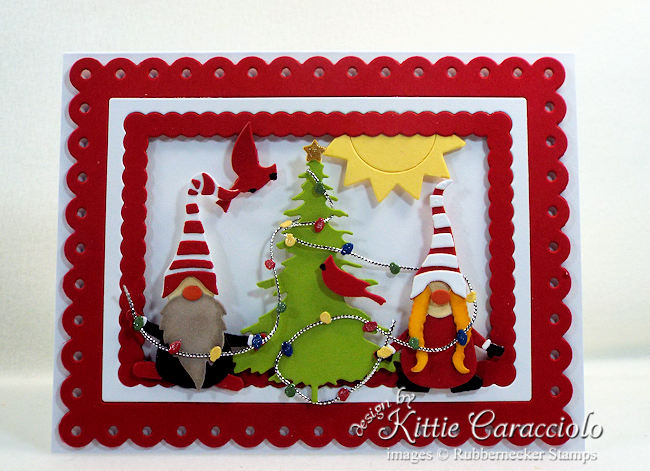 Come see how I made this gnome christmas card.
