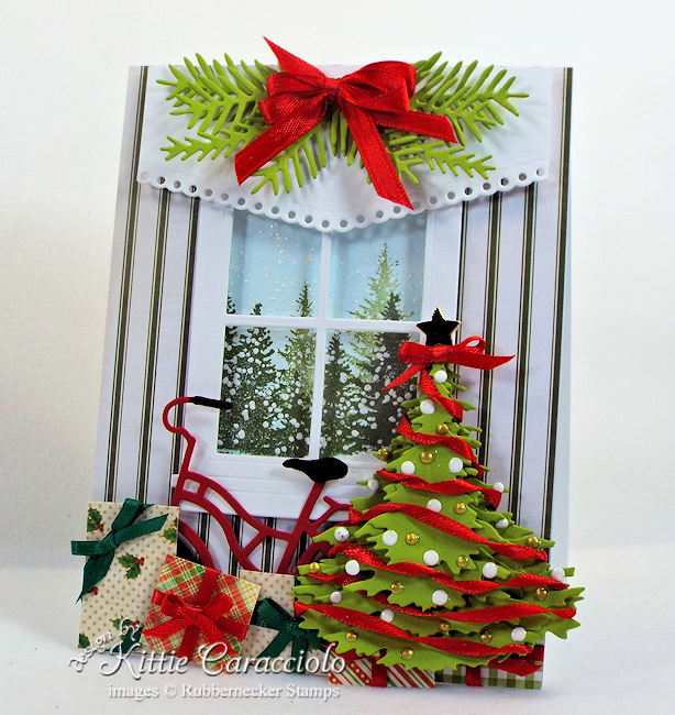 Come see how I made this layered Christmas tree card.