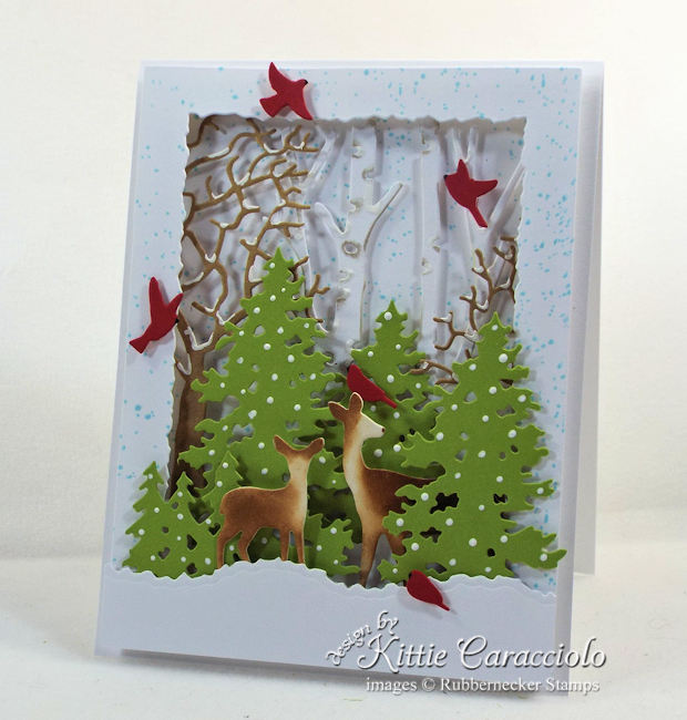 Come see how I made this lovely deer die cut winter scene.