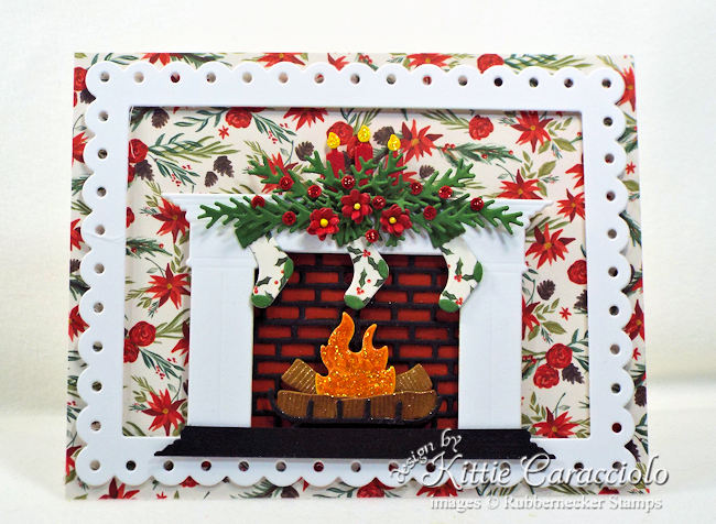 Come see how I made this lovely fireplace Christmas card.