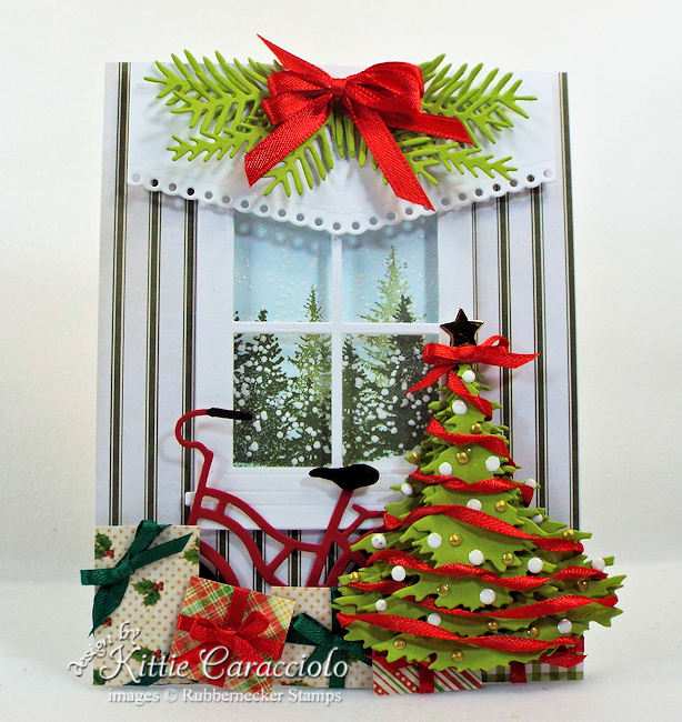 Come see how I made this lovely layered Christmas tree card.