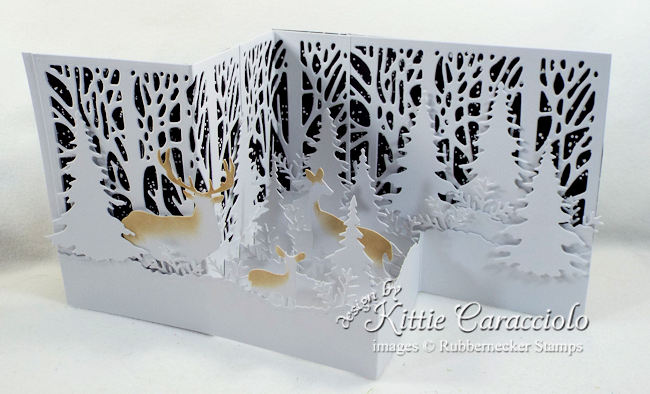 Come see how I made this lovely snowy z fold card with night sky.