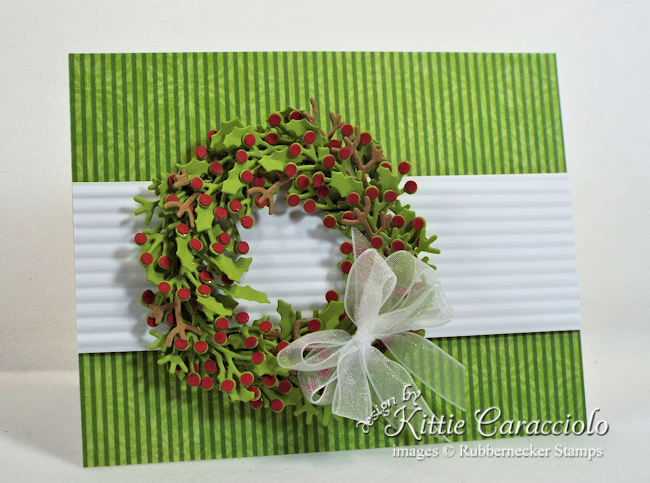 Come see how I made this pretty clean and simple Christmas wreath card.