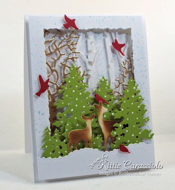 Come see how I made this pretty deer die cut winter scene.