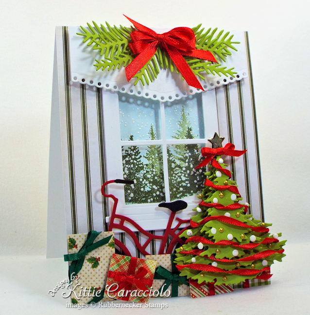 Come see how I made this pretty layered Christmas tree card.
