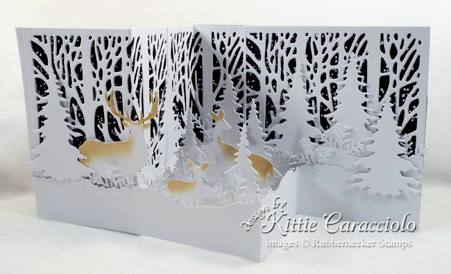 Come see how I made this pretty snowy z fold card with night sky.
