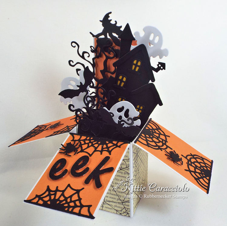 Come see how I made this scary Halloween pop up box card.