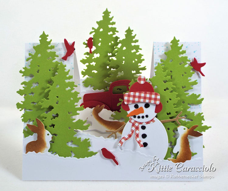 Come see how I made this snowman stair step card.