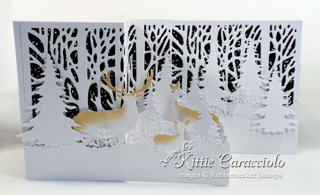 Come see how I made this snowy z fold card with night sky.