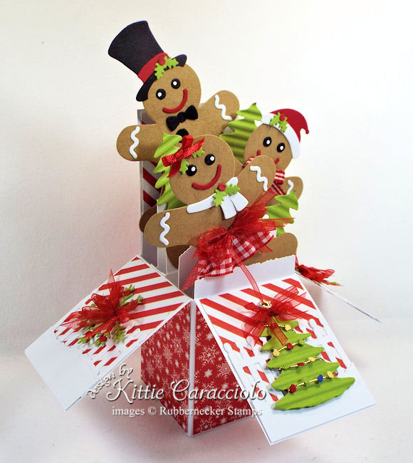 Come see how I made this sweet gingerbread boy and girl Christmas pop up box card.