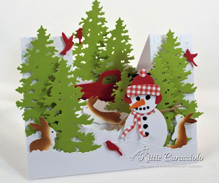 Come see how I made this winter snowman stair step card.