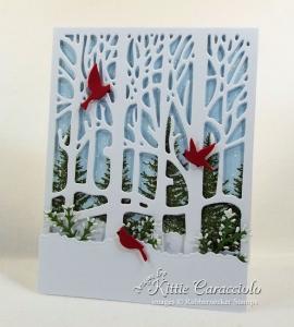 Winter Tree Scene Card