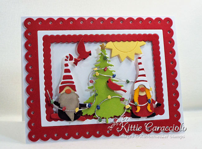 Come see how I made thisfun gnome christmas card.