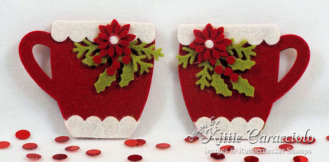 Come over to my blog to see how made these handmade felt Christmas ornaments with holly and poinsettias.
