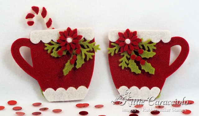Come over to my blog to see how I made these warm and cozy handmade felt Christmas ornaments.