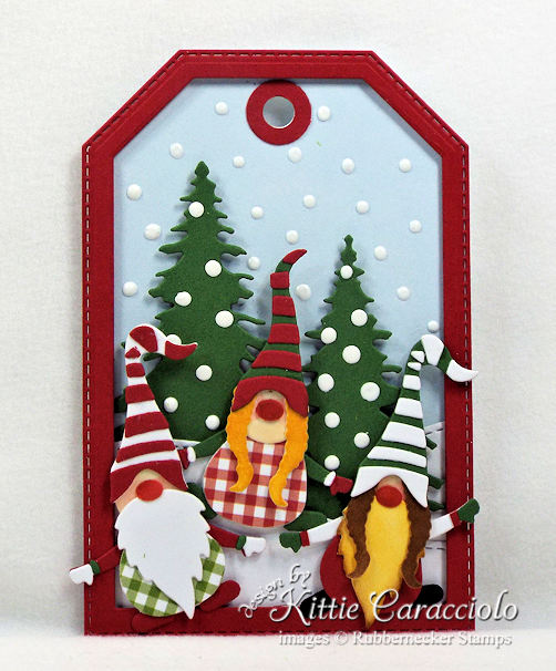 Come see how I made gnome handmade Christmas tags.