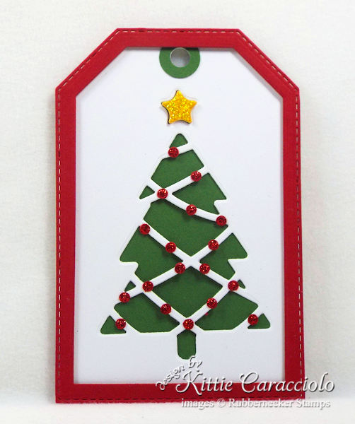 Come see how I made pretty handmade Christmas tags.