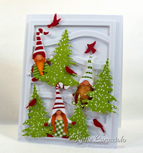 Come see how I made this Christmas gnome card.