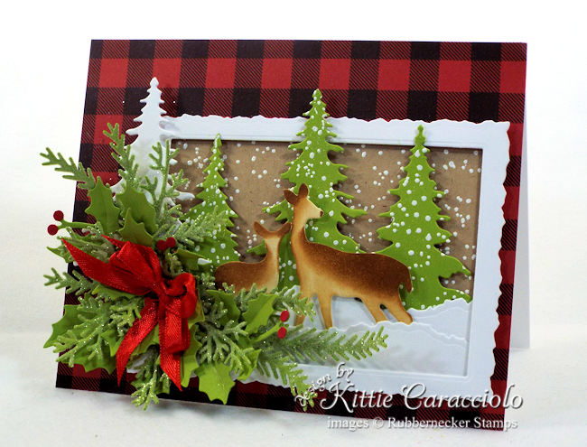 Come see how I made this deer Christmas card.