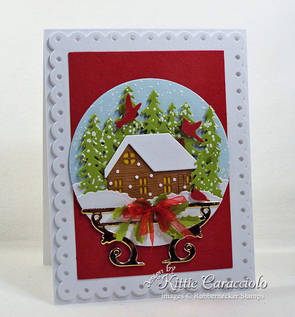 Come see how I made this festive snow globe card.