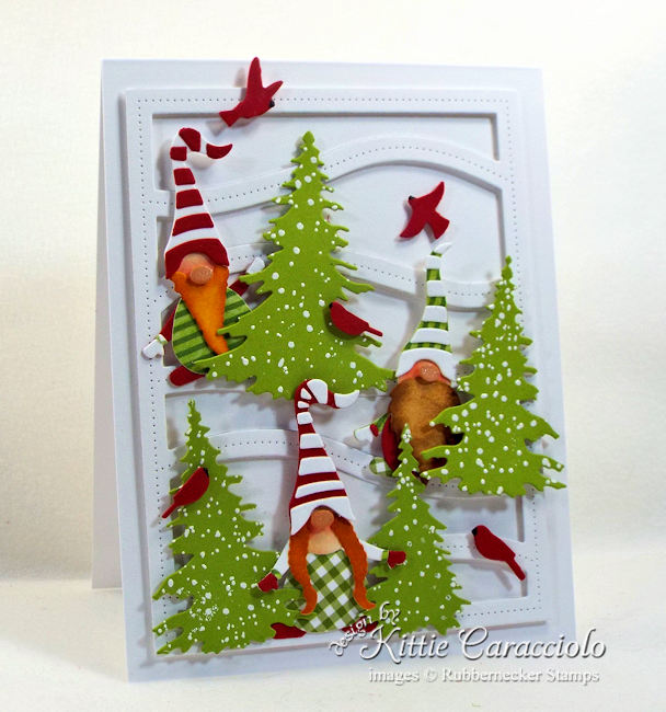 Come see how I made this fun Christmas gnome card.