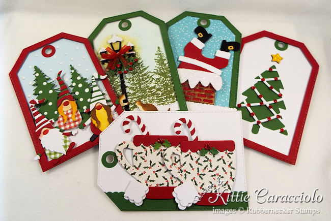 Come see how I made this group of handmade Christmas tags.