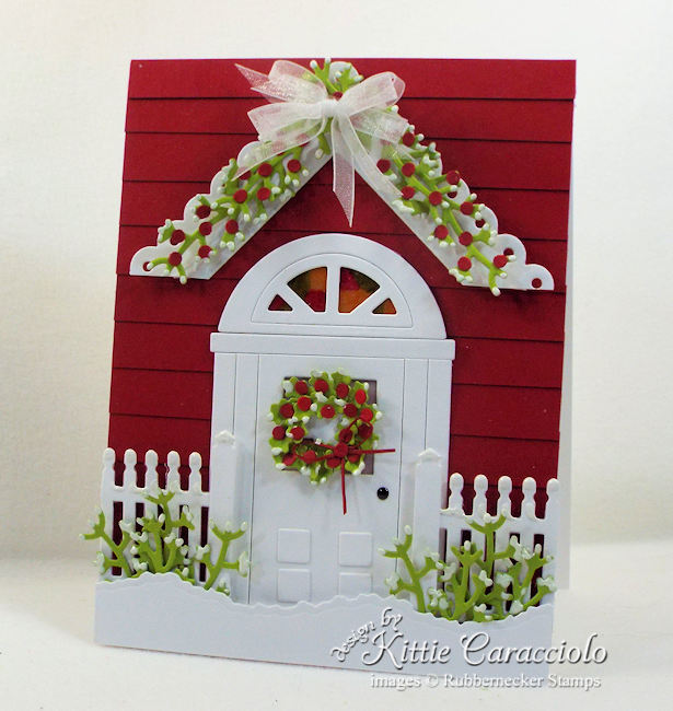 Come see how I made this handmade door card for Christmas.