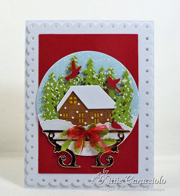 Come see how I made this holiday snow globe card.