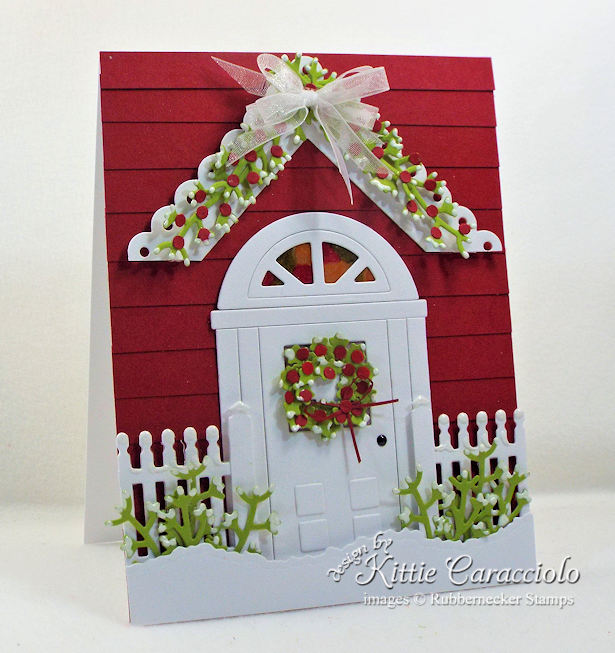 Come see how I made this inviting handmade door card for Christmas.