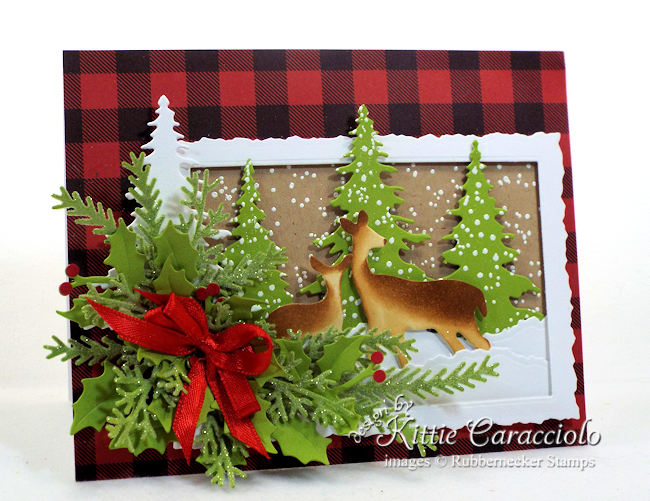 Come see how I made this mother and baby deer Christmas card.