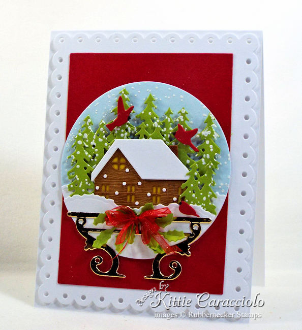 Come see how I made this snow globe card.