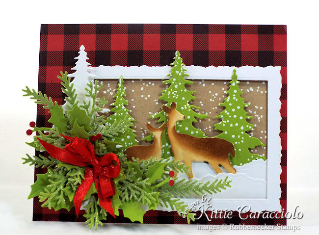 Come see how I made this snowy deer Christmas card.