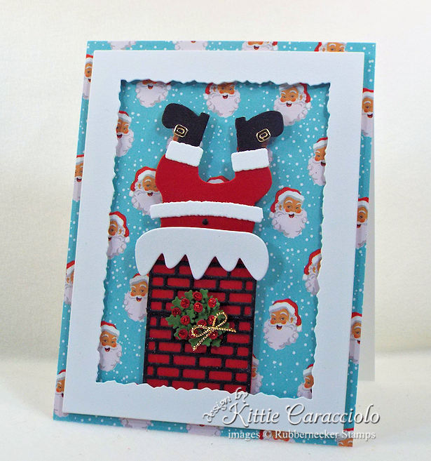 Come see how I made this stuck Santa Christmas card.