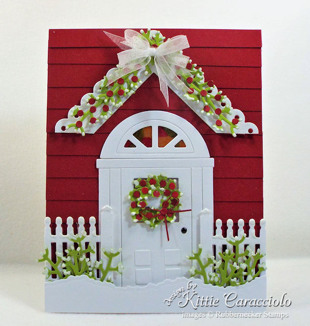 Come see how I made this welcoming handmade door card for Christmas.