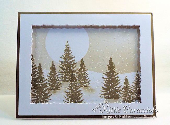 Come see this simple but beautiful example of all purpose handmade winter greeting cards!
