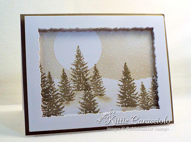 Handmade winter greeting cards don't all have to be holiday themed - come check out this beautiful example!