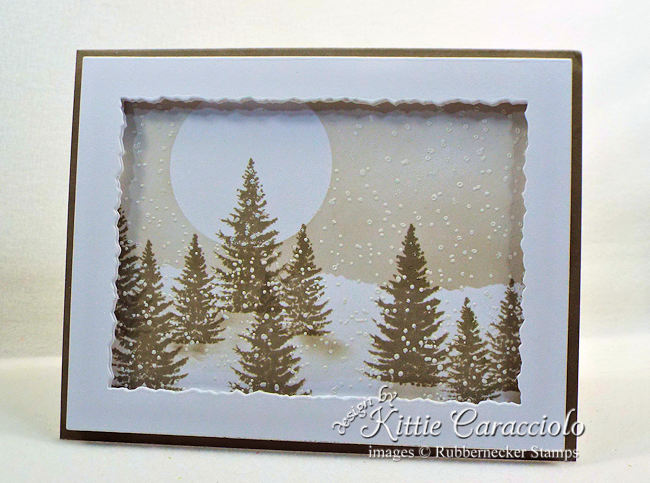 Looking for some non-holiday handmade winter greeting cards? Click through for a very pretty project!