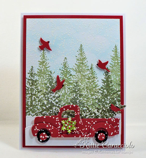 Seeing Christmas cards with pickup trucks everywhere? Click through to see how to make your own!