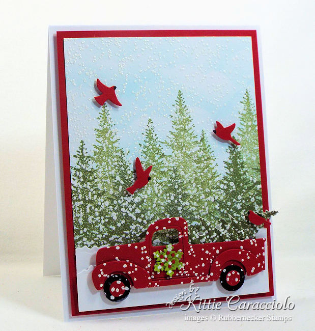 Christmas cards with pickup trucks are a hot trend this year - click through to learn how to make your own!