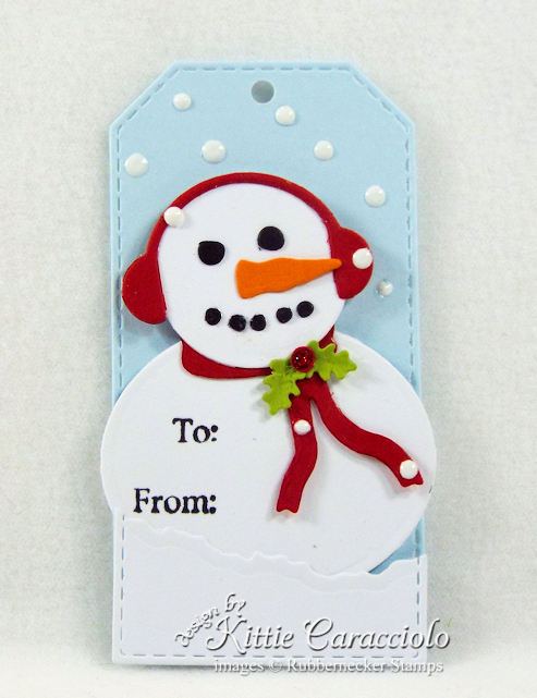 Come see how I made this funny snowman Christmas tag.
