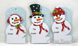 Snowman Christmas Tag Set